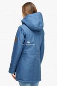 Оптом Куртка парка зимняя женская голубого цвета 18113Gl в Екатеринбурге, фото 4