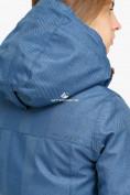 Оптом Куртка парка зимняя женская голубого цвета 18113Gl в Екатеринбурге, фото 5