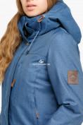 Оптом Куртка парка зимняя женская голубого цвета 18113Gl в Екатеринбурге, фото 6