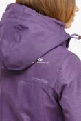 Оптом Куртка парка зимняя женская фиолетового цвета 18113F в  Красноярске, фото 6