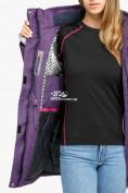 Оптом Куртка парка зимняя женская фиолетового цвета 18113F в  Красноярске, фото 7