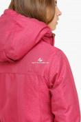 Оптом Куртка парка зимняя женская малинового цвета 18113М, фото 7