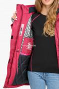 Оптом Куртка парка зимняя женская малинового цвета 18113М, фото 8