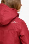 Оптом Куртка парка зимняя женская бордового цвета 18113B в  Красноярске, фото 6