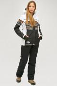 Оптом Женский зимний горнолыжный костюм черного цвета 01856Ch в  Красноярске