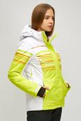 Оптом Женский зимний горнолыжный костюм салатового цвета 01856Sl в Казани, фото 3
