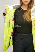 Оптом Женский зимний горнолыжный костюм салатового цвета 01856Sl в Казани, фото 8