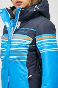 Оптом Женский зимний горнолыжный костюм синего цвета 01856S в  Красноярске, фото 6