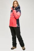 Оптом Женский зимний горнолыжный костюм розового цвета 01856R в Нижнем Новгороде