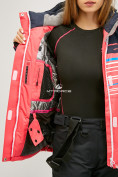 Оптом Женский зимний горнолыжный костюм розового цвета 01856R в Нижнем Новгороде, фото 7