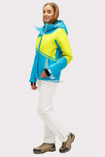 Оптом Костюм горнолыжный женский синего цвета 01811S, фото 2