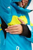 Оптом Костюм горнолыжный женский синего цвета 01811S, фото 10