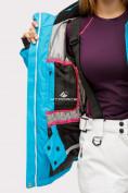 Оптом Костюм горнолыжный женский синего цвета 01811S, фото 20
