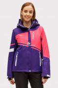 Оптом Куртка горнолыжная женская темно-фиолетового цвета 1811TF в Екатеринбурге