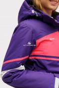 Оптом Куртка горнолыжная женская темно-фиолетового цвета 1811TF в Екатеринбурге, фото 7