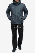 Оптом Костюм горнолыжный мужской темно-серого цвета 018122TC в Казани