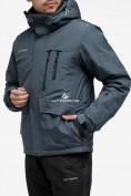 Оптом Куртка горнолыжная мужская темно-серого цвета 18122TC в Казани, фото 2