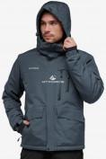 Оптом Куртка горнолыжная мужская темно-серого цвета 18122TC в Казани, фото 4