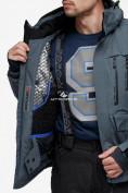 Оптом Куртка горнолыжная мужская темно-серого цвета 18122TC в Казани, фото 9