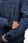 Оптом Костюм горнолыжный мужской темно-синего цвета 018122TS в Казани, фото 9