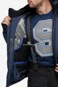 Оптом Костюм горнолыжный мужской темно-синего цвета 018122TS в Казани, фото 10