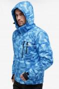 Оптом Костюм горнолыжный мужской синего цвета 018122-1S в Екатеринбурге, фото 9