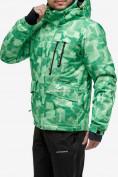 Оптом Костюм горнолыжный мужской зеленого цвета 018122-1Z в Нижнем Новгороде, фото 2
