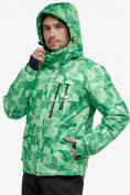 Оптом Костюм горнолыжный мужской зеленого цвета 018122-1Z в Казани, фото 5