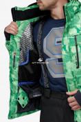 Оптом Костюм горнолыжный мужской зеленого цвета 018122-1Z в Казани, фото 8