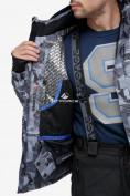 Оптом Куртка горнолыжная мужская серого цвета 18122-1Sr в Казани, фото 7