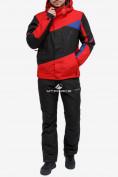 Оптом Костюм горнолыжный мужской красного цвета 018123Kr в Нижнем Новгороде