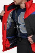 Оптом Костюм горнолыжный мужской красного цвета 018123Kr в Нижнем Новгороде, фото 9