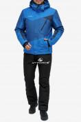 Оптом Костюм горнолыжный мужской синего цвета 018123S в Нижнем Новгороде