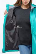 Оптом Ветровка softshell женская бирюзового цвета 18125Br в Казани, фото 5