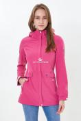 Оптом Ветровка softshell женская розового цвета 18125-1R в Казани, фото 2
