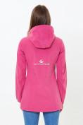 Оптом Ветровка softshell женская розового цвета 18125-1R в Казани, фото 4