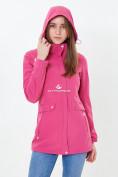 Оптом Ветровка softshell женская розового цвета 18125-1R в Казани, фото 5
