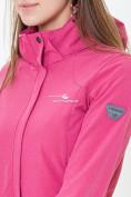 Оптом Ветровка softshell женская розового цвета 18125-1R в Казани, фото 6