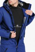 Оптом Комбинезон горнолыжный мужской синего цвета 18126S в Казани, фото 9