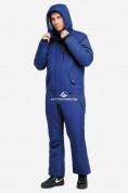 Оптом Комбинезон горнолыжный мужской синего цвета 18126S в Казани, фото 2