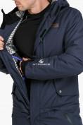 Оптом Комбинезон горнолыжный мужской темно-синего цвета 18126TS в  Красноярске, фото 9