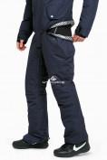 Оптом Комбинезон горнолыжный мужской темно-синего цвета 18126TS в  Красноярске, фото 10