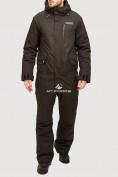 Оптом Комбинезон горнолыжный мужской черного цвета 18126Ch, фото 2