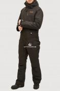 Оптом Комбинезон горнолыжный мужской черного цвета 18126Ch