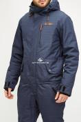 Оптом Комбинезон горнолыжный мужской темно-синего цвета 18126TS в  Красноярске, фото 4