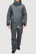 Оптом Комбинезон горнолыжный мужской темно-серого цвета 18126TC в Екатеринбурге