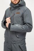 Оптом Комбинезон горнолыжный мужской темно-серого цвета 18126TC в Екатеринбурге, фото 5