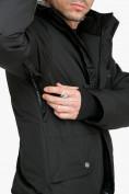 Оптом Комбинезон горнолыжный мужской черного цвета 18126Ch, фото 8