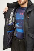 Оптом Мужской зимний горнолыжный костюм черного цвета 018128Ch, фото 10