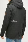 Оптом Мужская зимняя горнолыжная куртка черного цвета 18128Сh в  Красноярске, фото 4